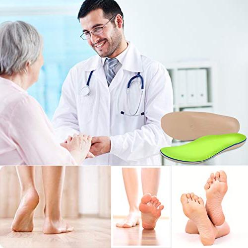 Everhealth Orthotic Insoles with Bacteria-Killing Tech, for Absorbing, Comfort Arch Support Heel Arch/Heel/Ankle Pain