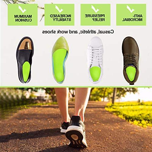 Everhealth Orthotic & Insoles Bacteria-Killing Tech, for Comfort Arch Support & Heel Cup for Pain