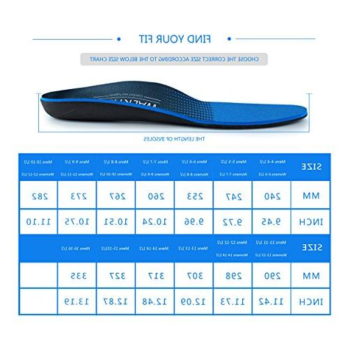 Orthotic Shoe Performance Shoe Fasciitis Insert Foot Support for Flat Feet Ball Foot Pain Long-time Heavy Duty 1/2 11-11