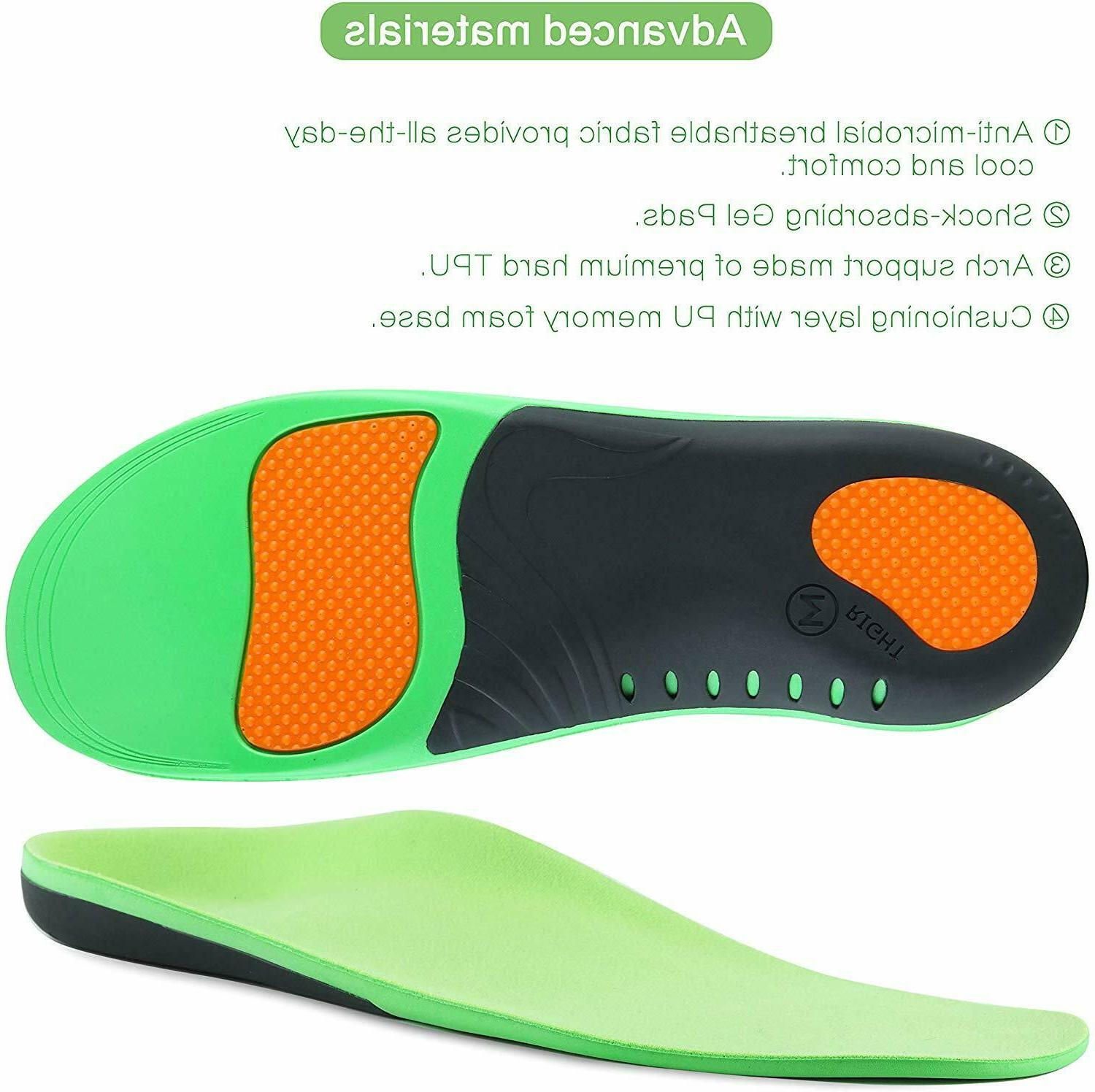 Orthotic Shoe Inserts Flat Feet Support For Fasciitis
