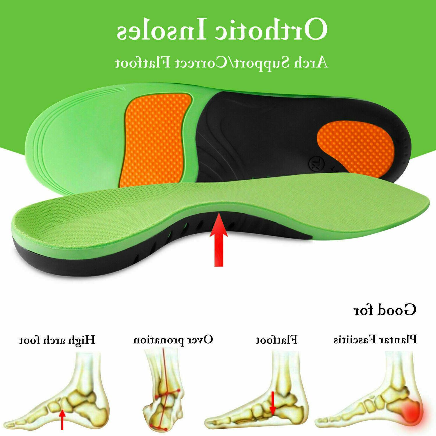 orthotic insoles arch support flat foot feet