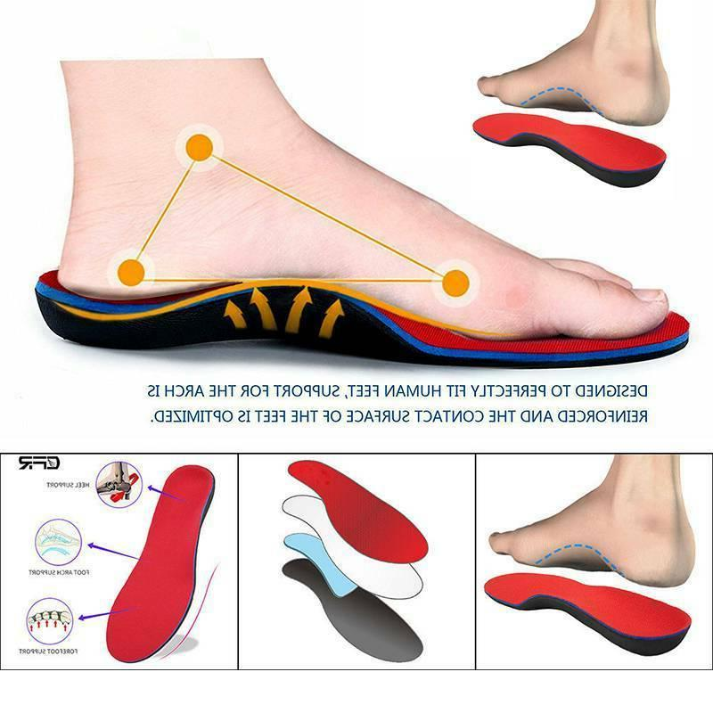 Orthotic Insoles Feet Foot High Arch Heel Support Inserts Pads Relief