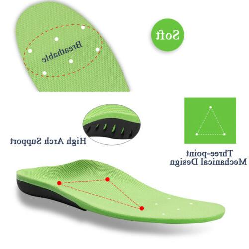 Orthotic Insoles Flat Feet High Support for Plantar Fasciitis-