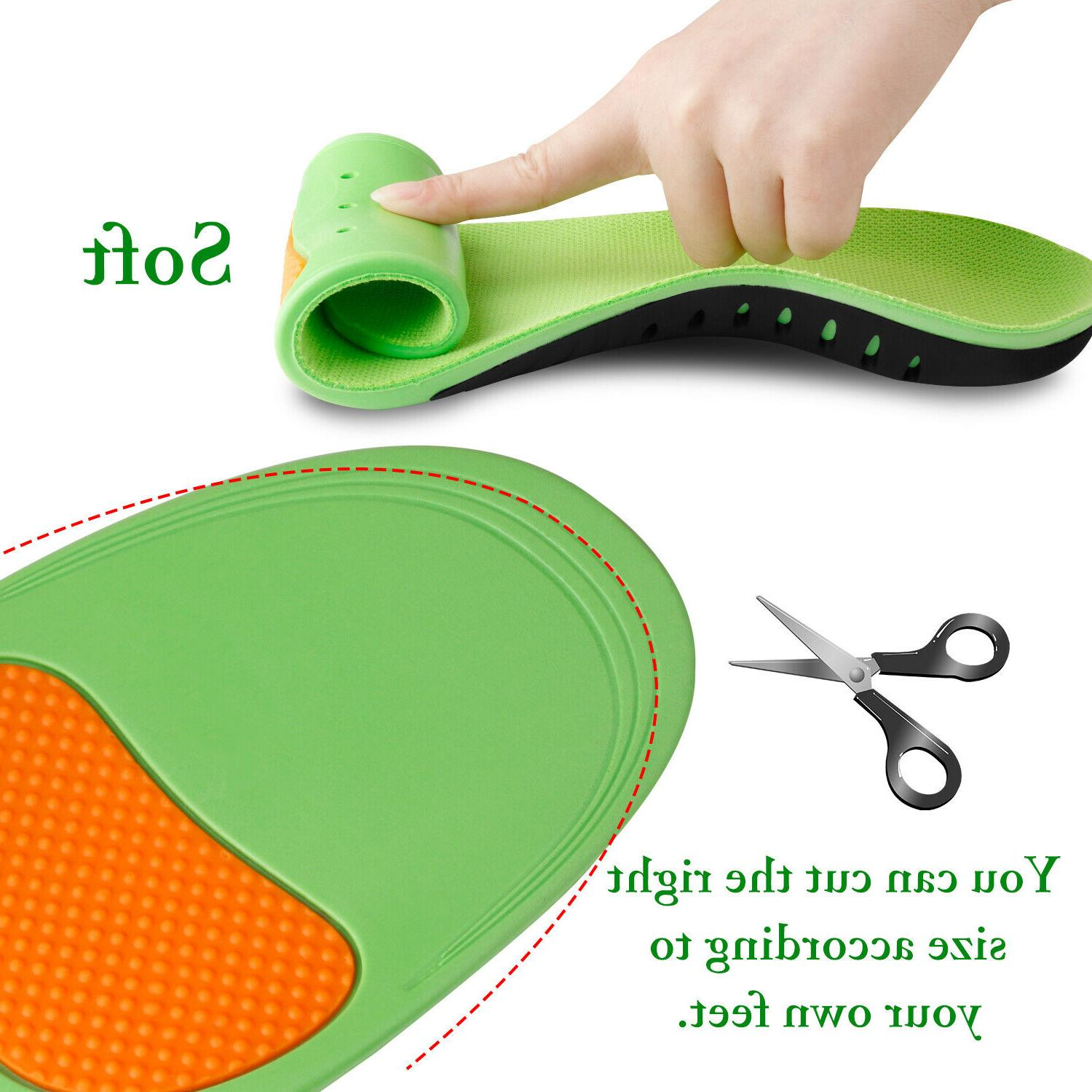 Orthotic Inserts Flat Feet High Support for Plantar