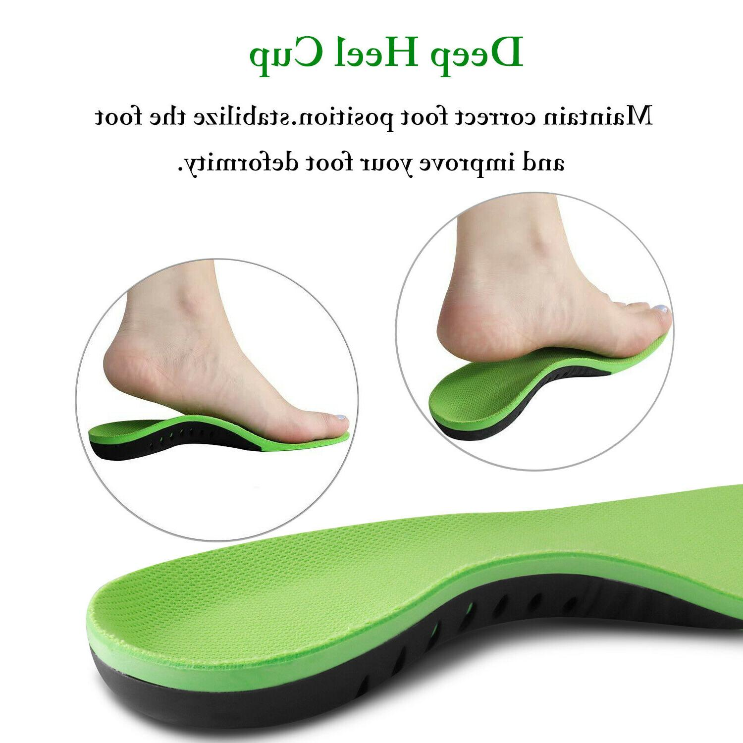 Orthotic Insoles Flat Arch Support Fasciitis