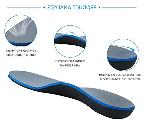 Overpronation Insoles - Veejoy Orthotic Insoles Orthotic Inserts Inserts Shoe Size