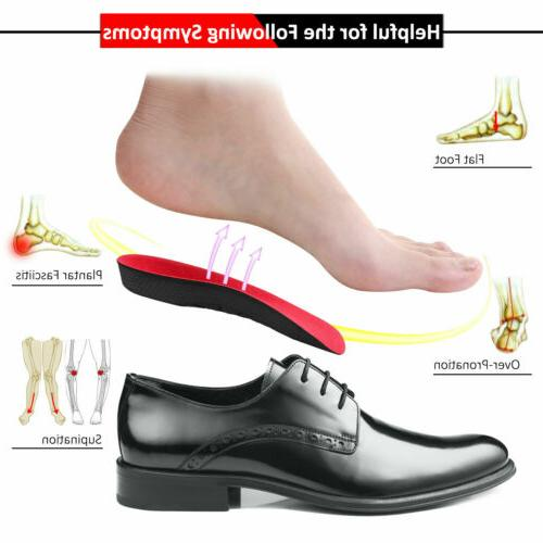 Pair Orthopedic Foot Plantar Fasciitis Support Inserts Breathable