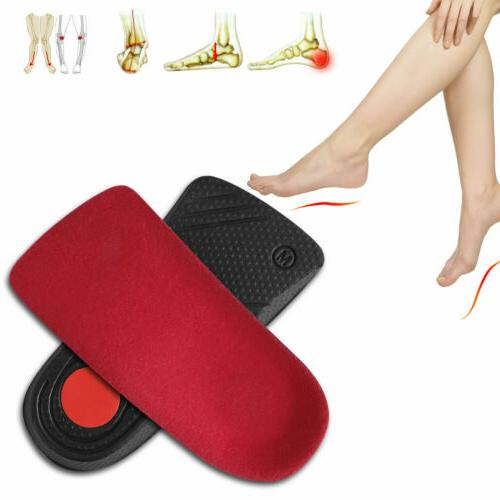 Pair Orthopedic Shoe Insoles Foot Inserts