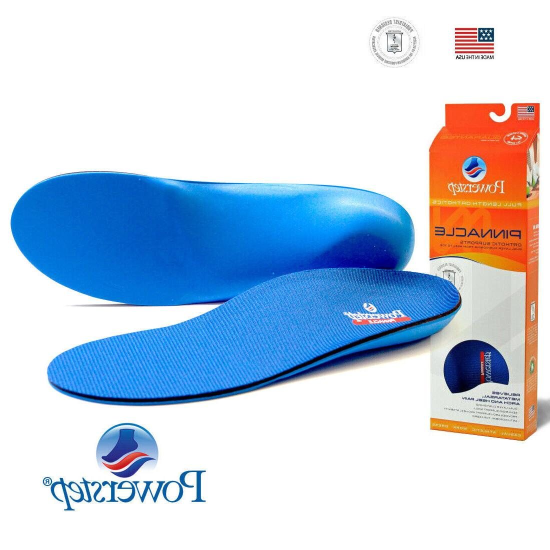pinnacle full length orthotic shoe insoles arch