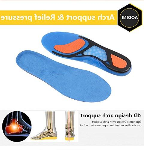 Plantar Arch Shoe Inserts for Comfort Relief from Flat High Fascia, Foot Heel for
