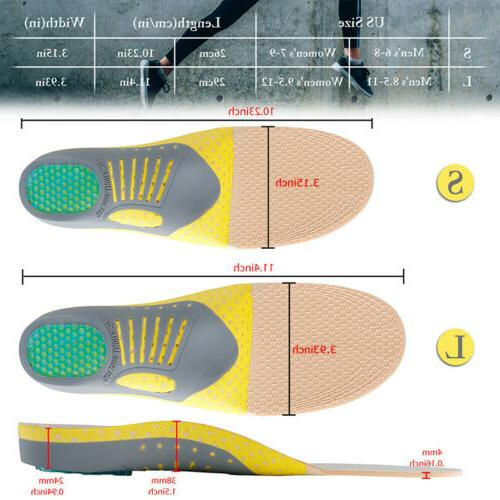 For Plantar Orthotic Shoe Insoles Feet Support