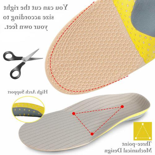 For Shoe Insoles Inserts Feet High Arch Support