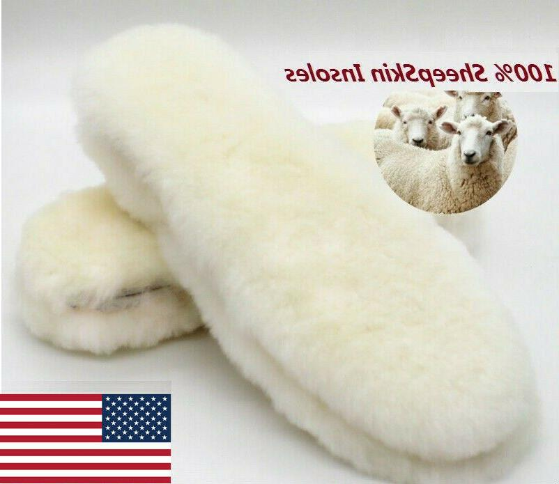 real sheepskin pads insoles shoe inserts slippers