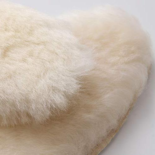 Hee Sheepskin Wool Warm Thick Fur Shoes and Men