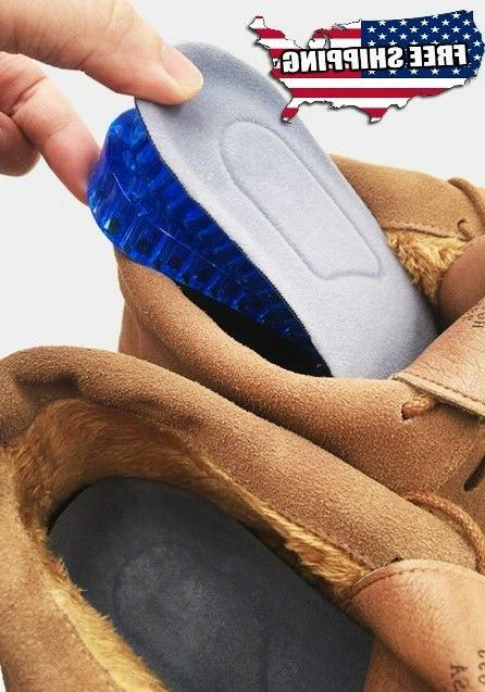 silicone increase insoles lifts half