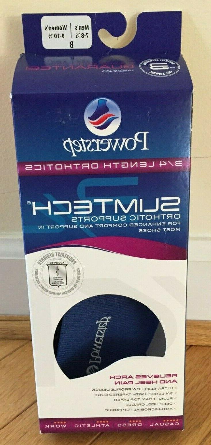 Powerstep 3/4 Orthotic Insoles Supports