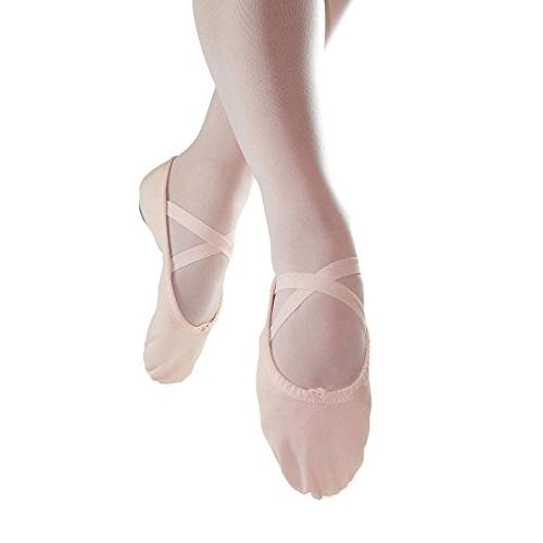 split sole canvas pink ballet