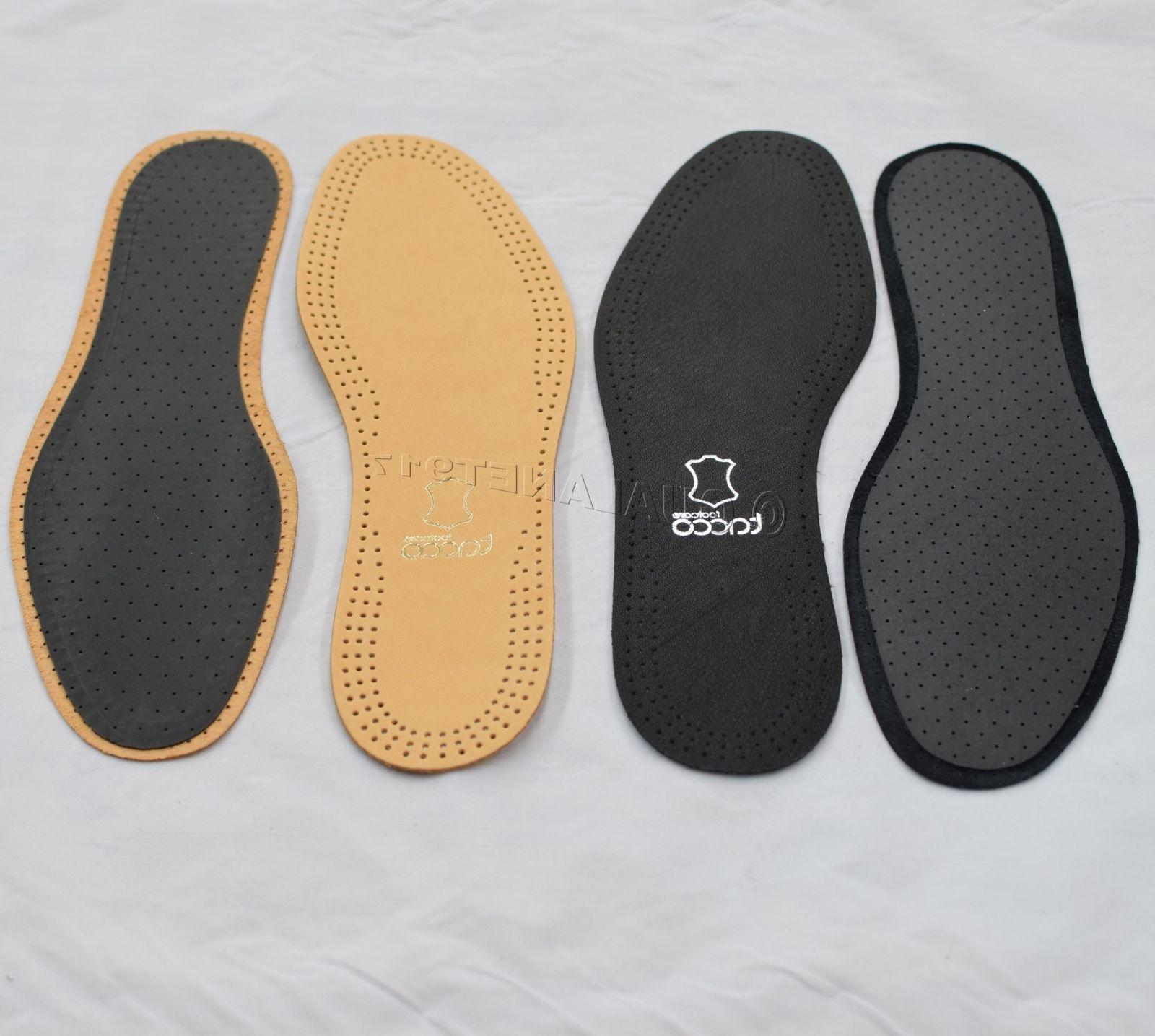 Taco Luxus Comfort Leather Insoles Tan Flat Shoe Inserts -