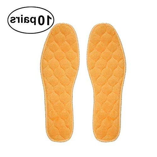 thickened plush insoles winter warm