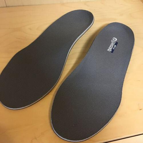 wide fit gray hard arch comfort insole