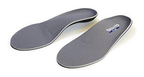 Powerstep Wide Fit Shoe Inserts, Gray, 12 6E