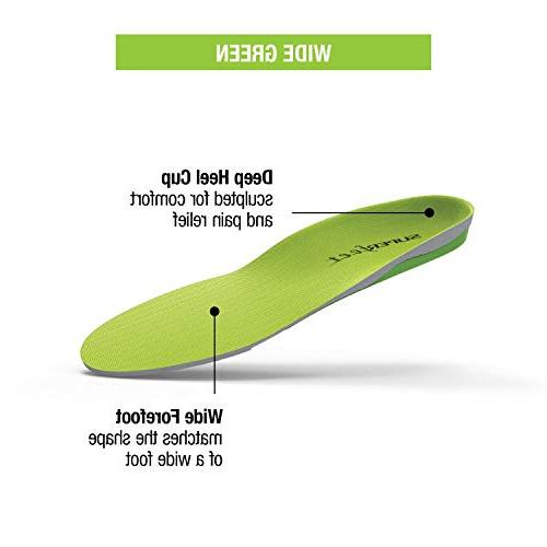 Superfeet Orthotic Insoles for Unisex, Green,
