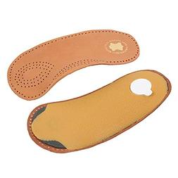 BESTOYARD 1 Pair Leather Insoles Full Length Cushion Pads An