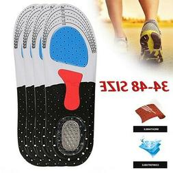 Men Cushion Gel Orthotic Sport Running Insoles Insert Shoe P