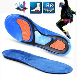Men Gel Orthotic Sport Running Insoles Insert Shoe Pad Arch