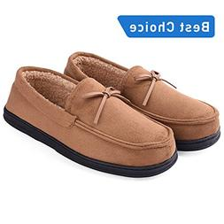 Men's Casual Memory Foam Comfortable Moccasin Slippers House