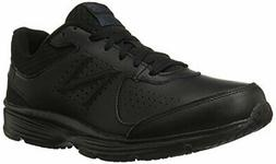 New Balance Men's MW411v2 Walking Shoe, Black, 10 2E US