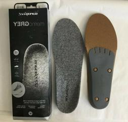 Superfeet Merino Grey Shoe Inserts Insoles Size E Men 9.5 -