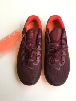 Nike Metcon 5 Maroon Orange Gym Training Men Sz 9.5 Shoes AQ