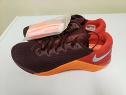 Nike Metcon 5 Maroon Orange Gym Training Mens Sz 12 Shoes w/