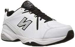 New Balance Men's MX608v4 Training Shoe, White/Black, 10 4E