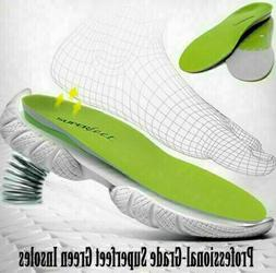 New Superfeet Green Arch Support Shoe Inserts Insoles Sizes