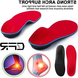 Orthotic Shoe Insoles Inserts High Arch Support Flat Feet Pl