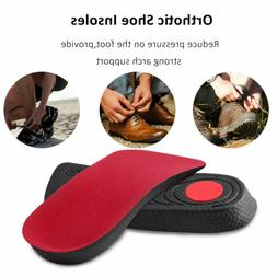 Pair Orthopedic Shoe Insoles Foot Plantar Fasciitis Support