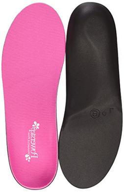 Powerstep Women's Pinnacle Pink Shoe Insoles, 7-7.5