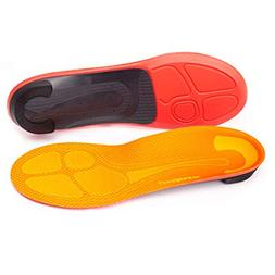 Superfeet Run Pain Relief Insoles, Tangerine, D: 8.5-10 US W