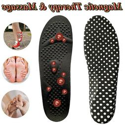 Shoe Insoles Men Women Magnetic Massage Gel Inserts Height P