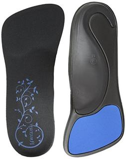 SlenderFit Fashion Orthotic-W, Black/Black, Women's 9.5 - 10