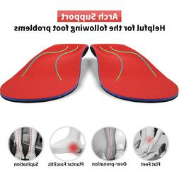 Unisex Orthotic Arch Support Shoe Insert/Insoles for Flat Fe
