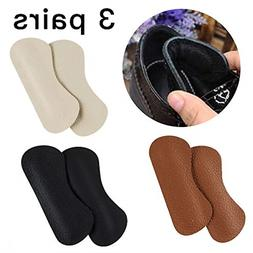 Unisex Premium Leather Heel Pads Grips Liners Inserts for Sh
