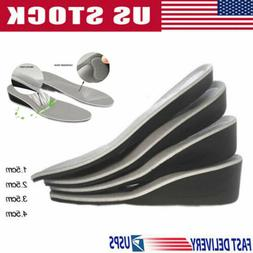 US Men Women Invisible Heel Lift Taller Shoe Inserts Height