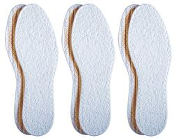 Pedag Washable Summer Pure Cotton Terry Barefoot Insole, Whi